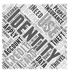 what is identity theft Word Cloud Concept vector image