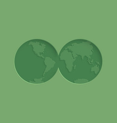 world environment day paper cut concept vector image
