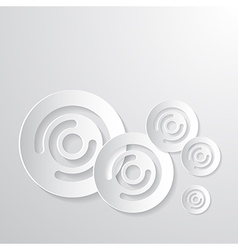 Abstract Paper Circle Background vector image