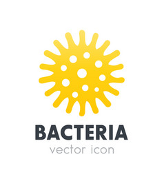 bacteria microbe icon isolated on white vector image