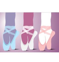 ballet shoes vector image