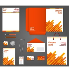 Geometric technology business stationery template vector image