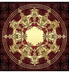 golden card vector image vector image