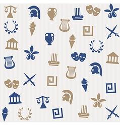 Greek seamless pattern vector image