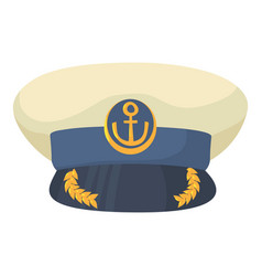 officer cap icon cartoon style vector image