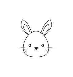 rabbit drawing face vector image