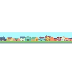 Set of Houses Buildings and Architectures vector image