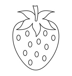 strawberry icon outline style vector image
