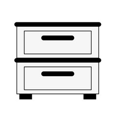 archive drawers icon image vector image