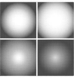 halftone Dot Textures set A set of 4 vector image