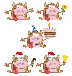Happy Calf-Collection vector image vector image