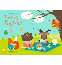 Animals celebrating Easter vector image vector image