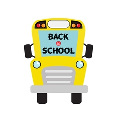 Back to school yellow school bus kids cartoon vector