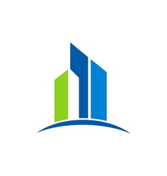 building icon abstract shape logo vector image vector image