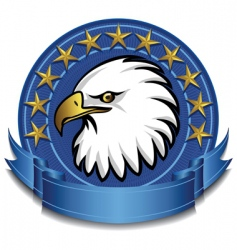 eagle banner vector image vector image