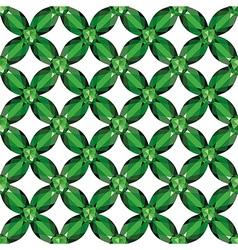 Flower mesh emeralds seamless texture vector