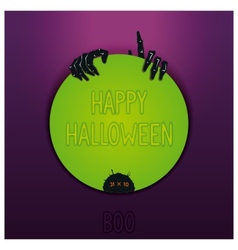 Halloween label design vector image vector image
