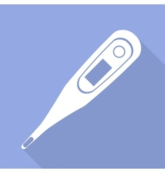 Medical thermometer web icon vector image
