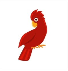 Red Cockatoo Parrot vector image
