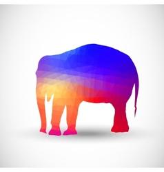 Geometric silhouettes animals Elephant vector image