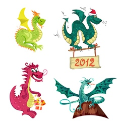 new years dragon collection vector image vector image