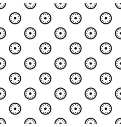 Round shield with metal rivets pattern vector image vector image