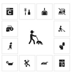Set of 13 editable hygiene icons includes symbols vector