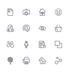 universal web icons to use in web and mobile ui vector image