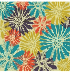 Vintage romantic seamless pattern with summer flow vector image