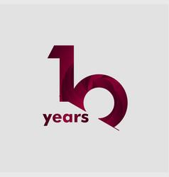 10 year anniversary elegant number template design vector