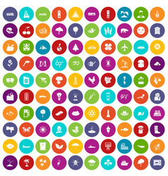 100 global warming icons set color vector