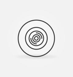 360 degree video camera outline circular vector