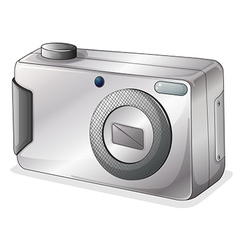 A gray camera vector image