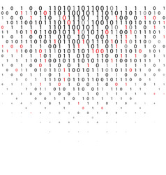 Abstract binary code technology background vector