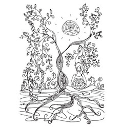 adult coloring book page with pregnant lady vector image