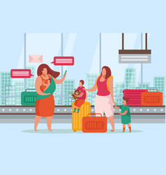 advanced motherhood composition vector image
