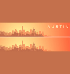Austin beautiful skyline scenery banner vector