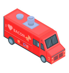 bacon food truck icon isometric style vector image