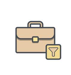 bag briefcase business filter portfolio vector image