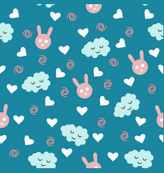 beautiful cute seamless pattern print with animal vector image