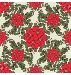 Big Red Flowers vector
