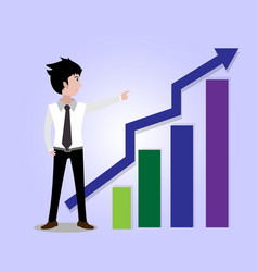 Business man characters business concept growth vector