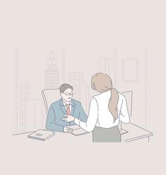 Business management leadership dismissing vector