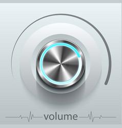 button volume vector image
