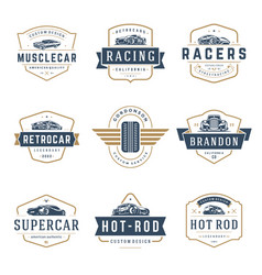 car logos templates design elements set vector image