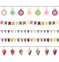 Christmas garlands endless horizontal texture vector image