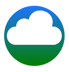 cloud sign white icon in vector image