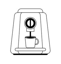 Coffee maker machine icon vector