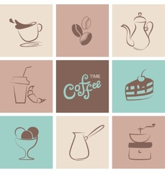 Coffee symbol collection vector image