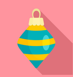 cone xmas toy icon flat style vector image